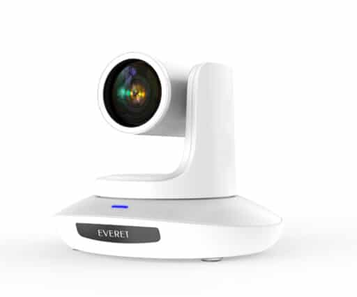EVERET EVP212 Professional FHD IP PTZ video camera with 12x optical zoom and PoE, offering IP, HDMI, 3G-SDI and USB3.0 simultaneously.