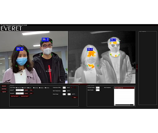 Body Surface Temperature Screening Software with Alarm